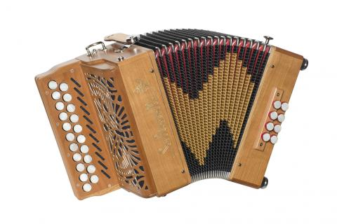 AETHER 2 diatonic accordion designed for Irish music