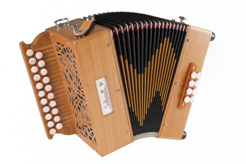 accordéon diatonique Marty cerisier