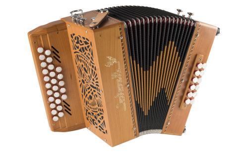 accordéon diatonique pastourelle III ouvert