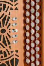 les touches de l'accordéon