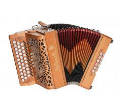 iroise accordéon diatonique en bois ouvert