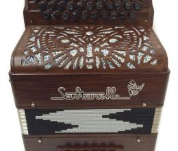 Diatonic accordion Walnut Etincelle